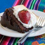 Torta de chocolate con fresa